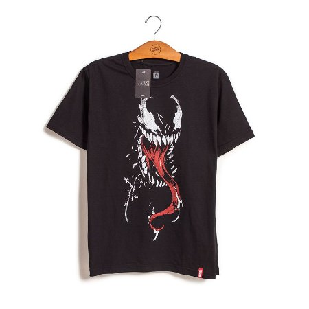 Camiseta Venom Face Marvel