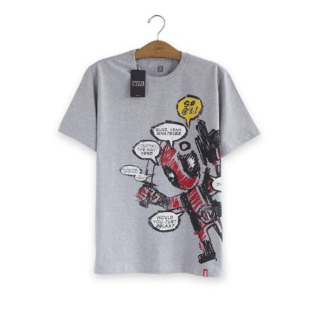Camiseta Deadpool Blah, Blah, Blah