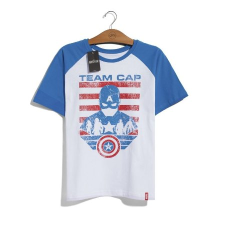 Camiseta Marvel Time Capitão América