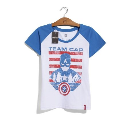 Camiseta Feminina Marvel Team Captain