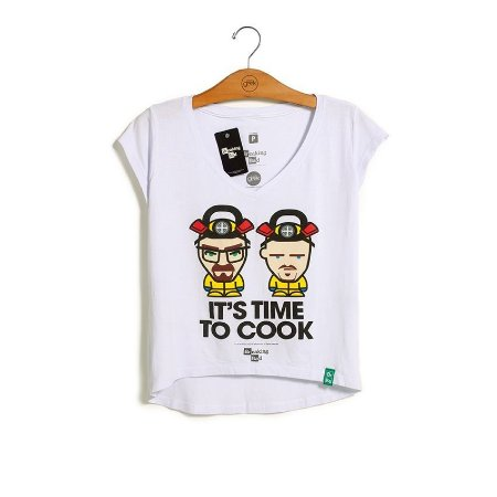 Camiseta Breaking Bad It's Time To Cook Feminina