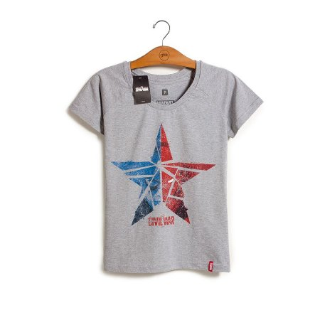 Camiseta Marvel Guerra Civil Estrela Feminina