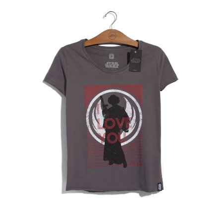 Camiseta Feminina Star Wars Leia I Love You