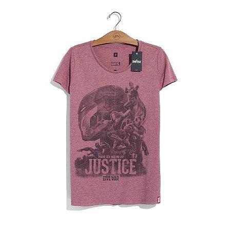 Camiseta Marvel Guerra Civil Justice Feminina