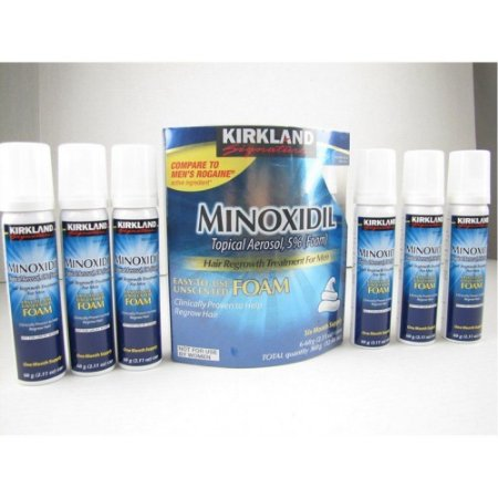 Minoxidil 5% - Kirkland Força Extra Foam (espuma) original - Caixa lacrada com 6 unidades.