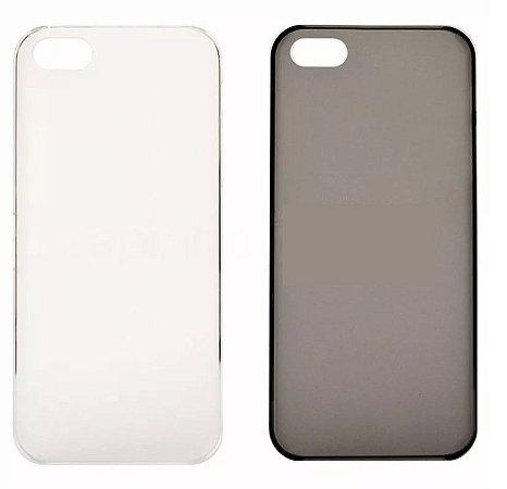 Capa Capinha Case Iphone 5 5s Transparente ou Fumê - 1 unidade