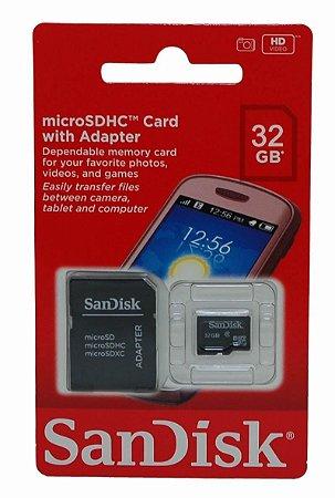 Cartão De Memória Sandisk 32 Gb Lacrado