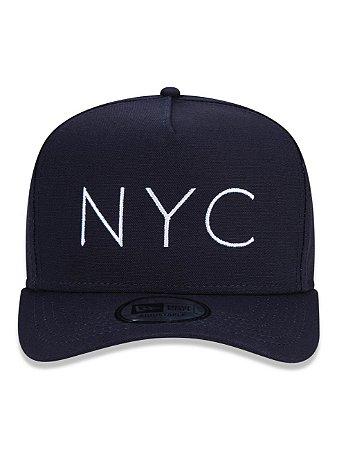 Boné New Era 9Forty A-Frame NYC Snapback Aba Curva Marinho