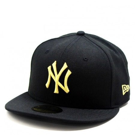 Boné New Era 59Fifty New York Yankees Black Gold Fitted