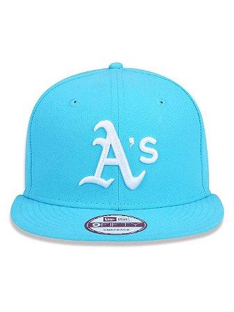 Boné New Era 9Fifty MLB Oakland Athletics Azul Claro Snapback