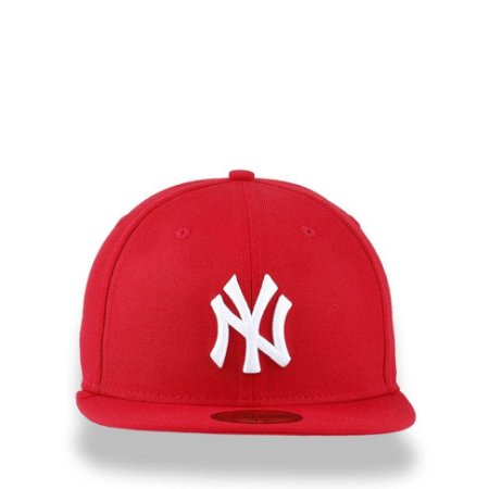 304aa108dab2c Boné New Era 59Fifty New York Yankees Red White Fitted - America Cap ...