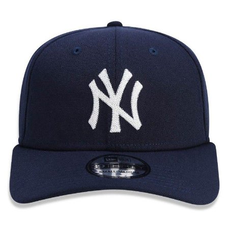 Boné New Era 39Thirty New York Yankees Chain Stitch Stretch Marinho