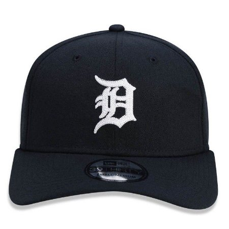 Boné New Era 39Thirty Detroit Tigers Chain Stitch Stretch Preto