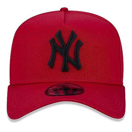 Boné New Era 9Forty New York Yankees A-Frame Vermelho Snapback Aba Curva