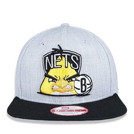 Boné New Era 9Fifty NBA Brooklyn Nets Angry Birds Original Fit Snapback