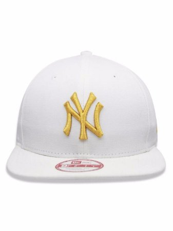 Boné New Era 9Fifty MLB NY Yankees White Gold Original Fit Strapback ... 93bf80bbb81