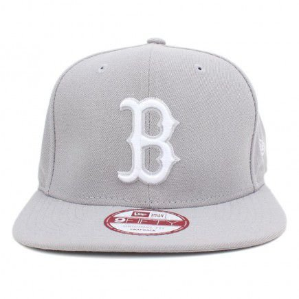 Boné New Era 9Fifty Boston Red Sox Cinza Original Fit Snapback