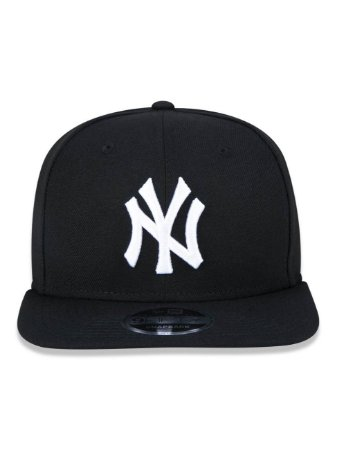 Boné New Era 9Fifty New York Yankees Black/White Original Fit Snapback