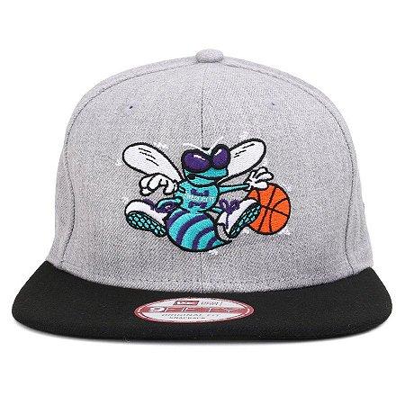 a7c41a9358b5f Boné New Era 9Fifty NBA Charlotte Hornets Heath Gray Original Fit Snapback