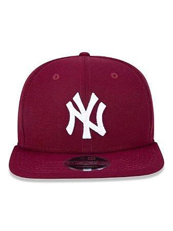 Boné New Era 9Fifty New York Yankees Vinho Original Fit Snapback