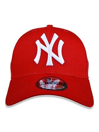 Boné New Era 39Thirty MLB New York Yankees Vermelho