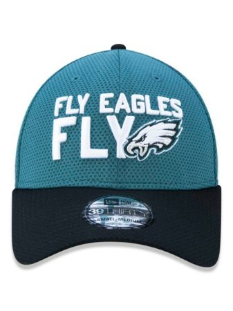 Boné New Era 39thirty Nfl Philadelphia Eagles Verde Aba Curva