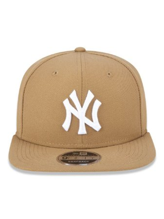 Boné New Era 9Fifty New York Yankees Kaki Original Fit Snapback