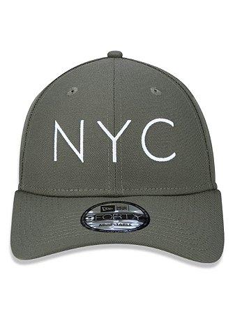 Boné New Era 9Forty NYC Verde A-Frame Snapback Aba Curva