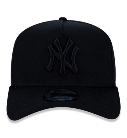 Boné New Era 9Forty New York Yankees A-Frame Preto Snapback Aba Curva