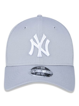 Boné New Era 39Thirty MLB NY Yankees Cinza Flexhat S/M Curvo