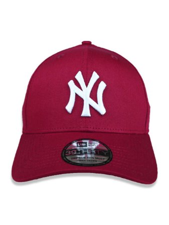 Boné New Era 39Thirty MLB New York Yankees Vinho Curvo