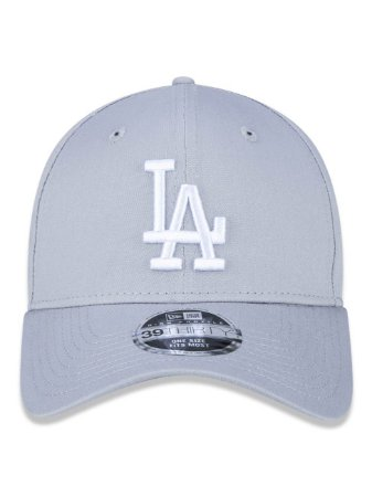 Boné New Era 39Thirty MLB Los Angeles Dodgers Cinza Fechado