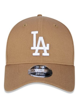 Boné New Era 39Thirty MLB LA Dodgers Kaki Flexhat S/M Curvo