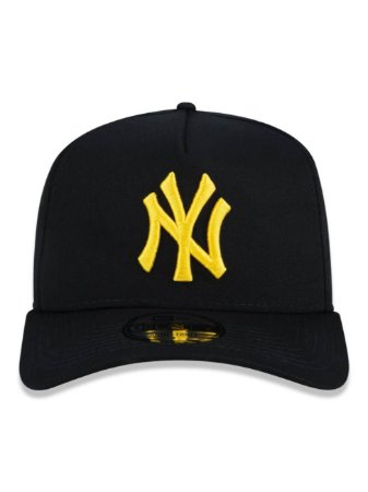 Boné New Era 9Forty New York Yankees Black/Gold Ajustável