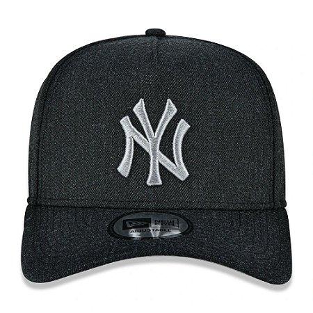 Boné New Era 9Forty MLB NY Yankees Preto Aba Curva Ajustável