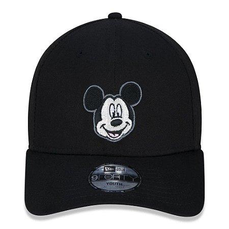 Boné New Era 9Forty Juvenil Disney Mickey Mouse Ajustável