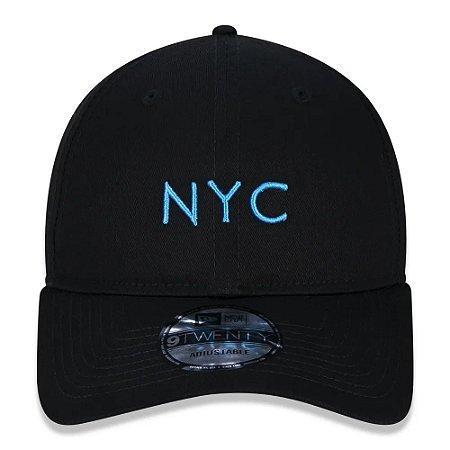 Boné New Era 9Twenty NYC New York City Black Strapback