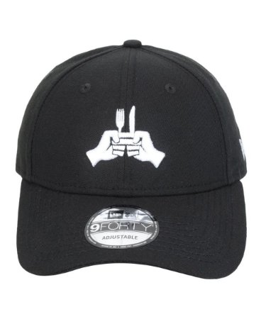 Boné New Era 9Forty Hands Mini Black Snapback Aba Curva