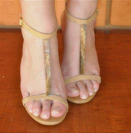 Sandália Nude  - Datelli - Tamanho 36