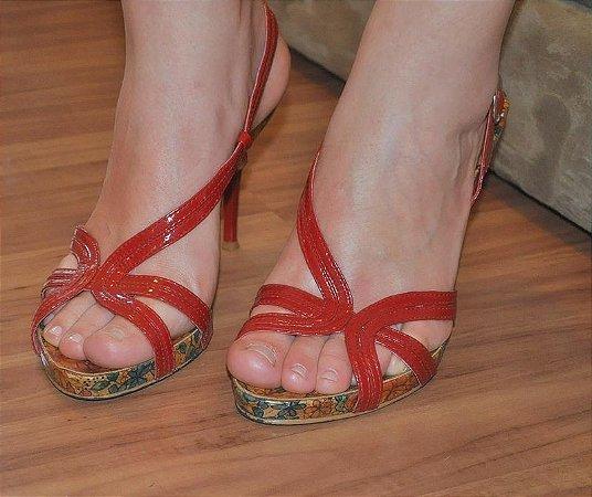 Sandália de Verniz Vermelha - Tam. 38