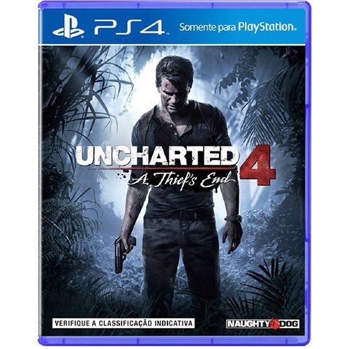 Jogo Uncharted 4 - Playstation 4 Ps4 - Totalmente em Português