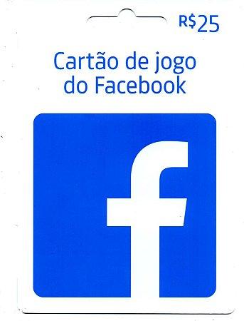 Cartão Presente Facebook Jogos Crédito de 25 Reais - Envio Digital
