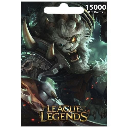 Cartão League Of Legends 15000 RPs  - LOL Riot Points