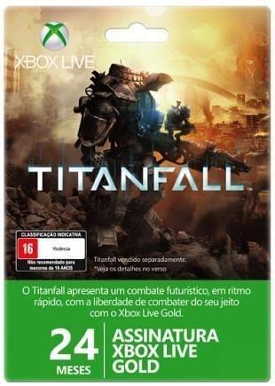 Cartão Xbox Live Gold 24 Meses De Assinatura Xbox 360 E One