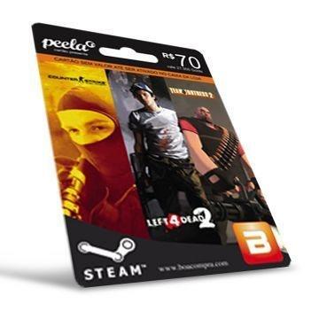 Cartão Steam R$70