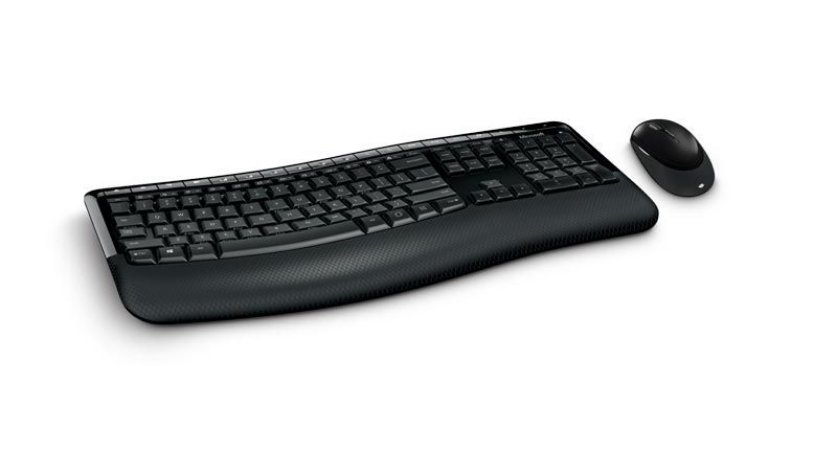 Kit Teclado e Mouse Microsoft Wireless Comfort Desktop 5050