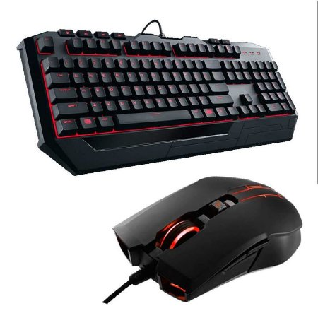 Kit Teclado e Mouse Gamer CoolerMaster Devastator II - Led Vermelho