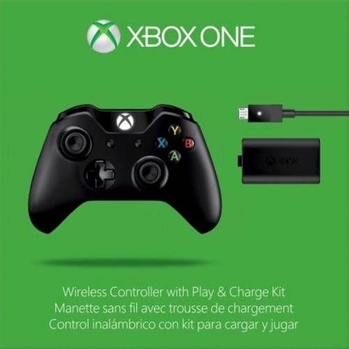 Controle Wireless Xbox One Preto com Kit Carregador e Bateria - Microsoft