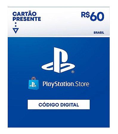 Cartão Presente Playstation Store R$60 - Código Digital