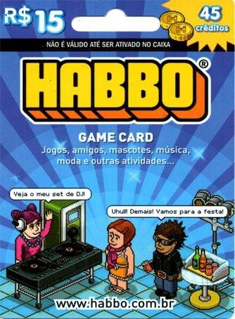 Cartão Pré Pago - HABBO 45 créditos